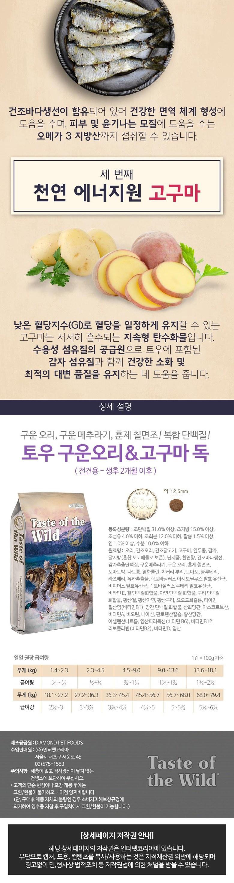 토우 구운오리&고구마 독 (4.5kg)-상품이미지-1